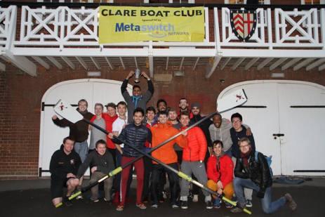 Novice Men 2015 celebrating NM2 taking the Clare Novices' Plate